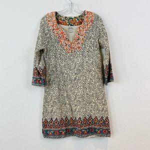 Lucky Brand Moroccan Printed Tunic Kaftan Dress